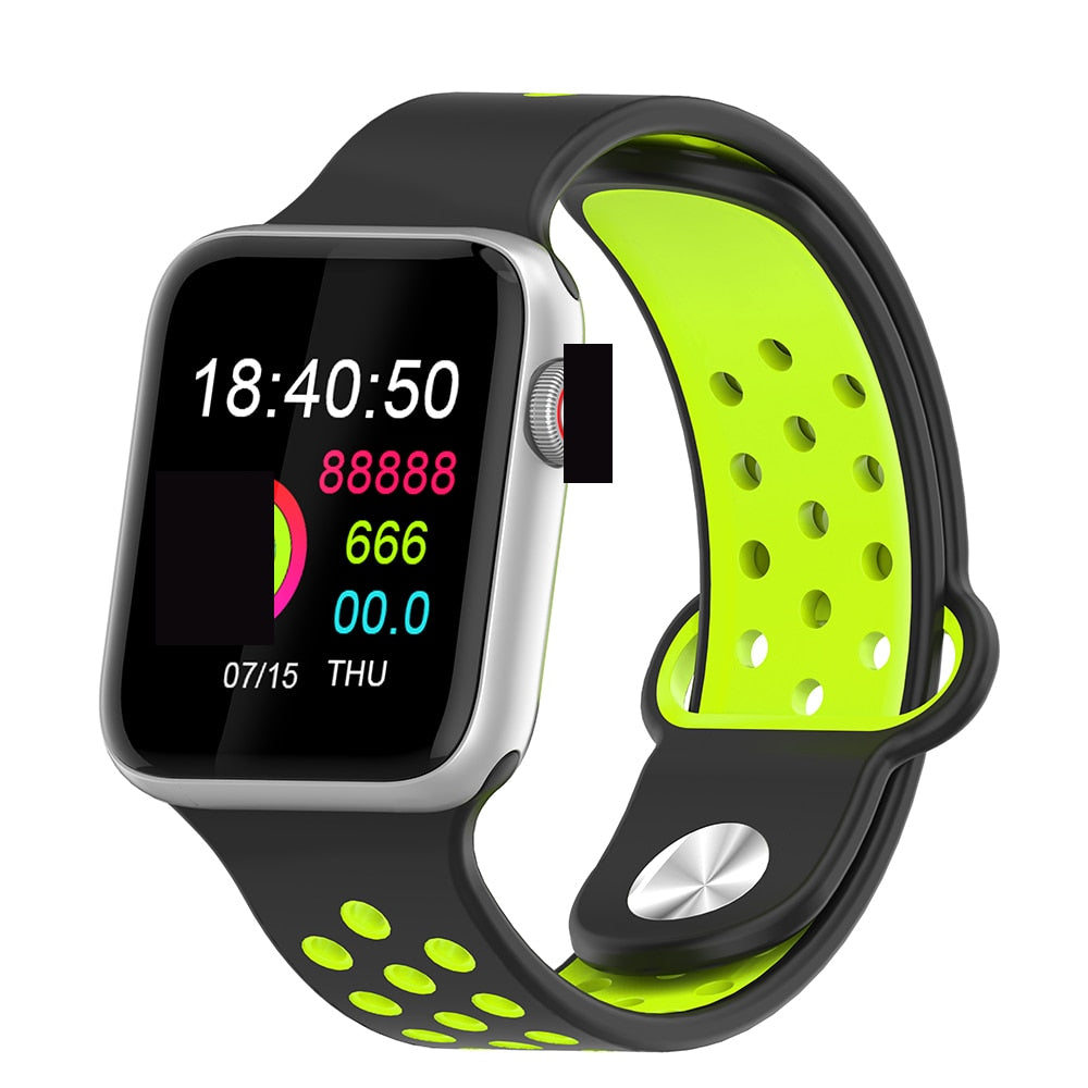 Fitness Smart Watch Alpha Limitless silver black yellow