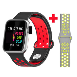 Fitness Smart Watch Alpha Limitless silver red gray