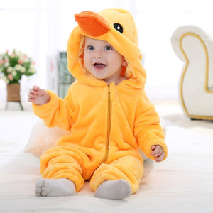 Alpha Animal Baby Romper Alpha Limitless duck / 3-6M