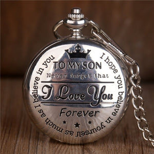TO MY SON LUXURY POCKET WATCH Alpha Limitless