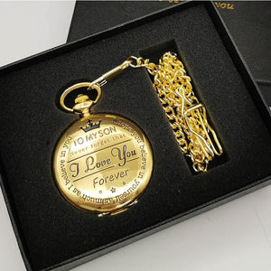 TO MY SON LUXURY POCKET WATCH Alpha Limitless Gold