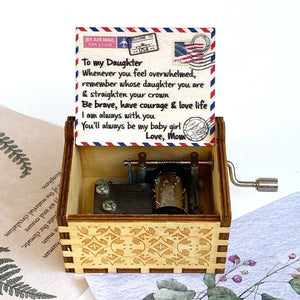 Wooden Hand-cranked Music Box Alpha Limitless Mom - Daughter