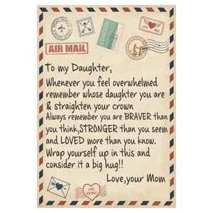 Letter Printed Air Mail Blankets Alpha Limitless Mom - Daughter