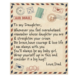 Letter Printed Air Mail Blankets Alpha Limitless Dad - Daughter