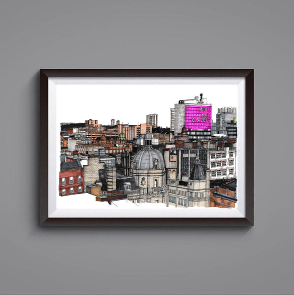 Glasgow Rooftops prints