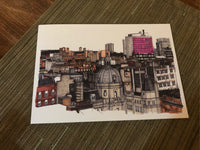 A5 'Glasgow Rooftops' Greetings Card / Christmas card
