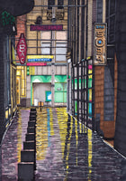 Mitchell Lane Too, Glasgow - signed prints of the original hand drawn artwork by Steven McClure
