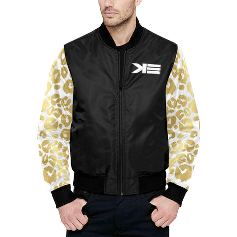 k3 jacket All Over Print Quilted Bomber Jacket for Men