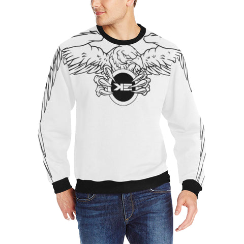 Eagle Design Final Men's Rib Cuff Crew Neck Sweatshirt (Model H34)