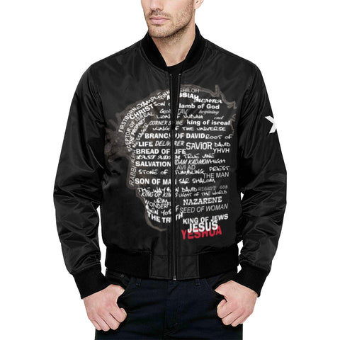 Face of christ Quilted Bomber Jacket