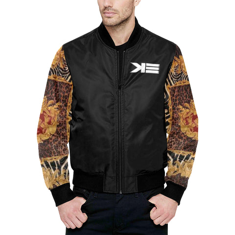 TRIBAL All Over Print Quilted Bomber Jacket for Men (Model H33)
