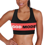 God Mode Women's All Over Print Sports Bra (Model T52)