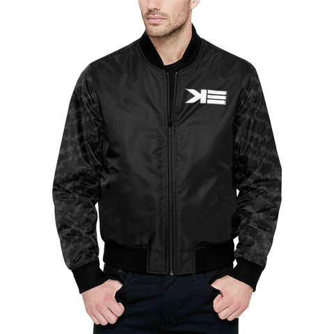 pirateblack All Over Print Quilted Bomber Jacket for Men (Model H33)