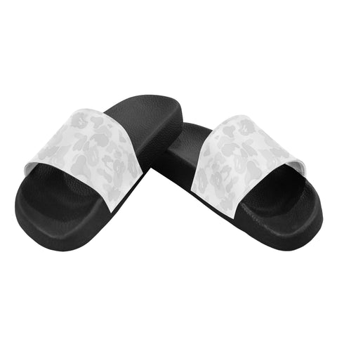 White Camo Womens Slides Women's Slide Sandals (Model 057)