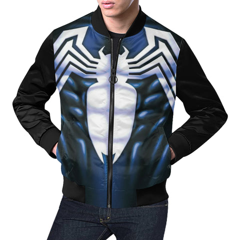 Venom All Over Print Bomber Jacket for Men/Large Size (Model H19)