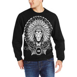 king of cheifs Men's Rib Cuff Crew Neck Sweatshirt (Model H34)
