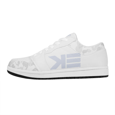 White camo Low Top Leather Sneakers