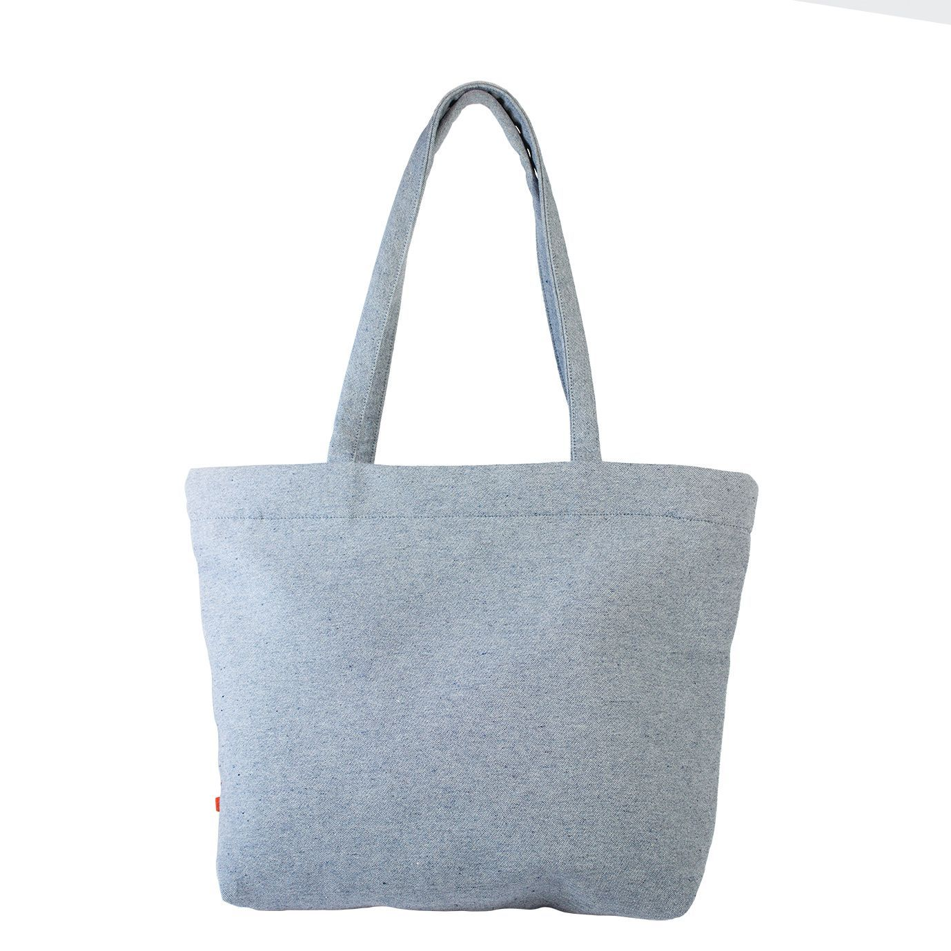 BAGU Vegan shopper denim blauw