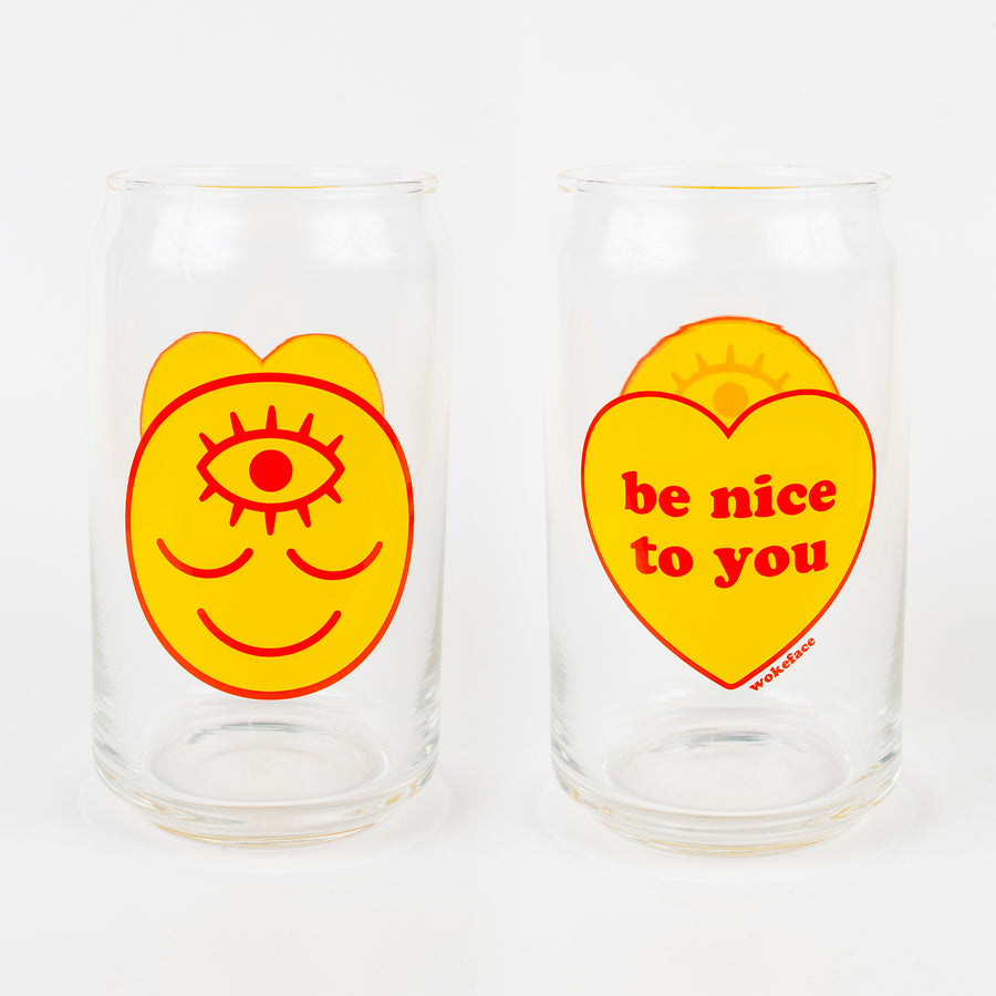 Wokeface BNTY Glass - Red/Yellow