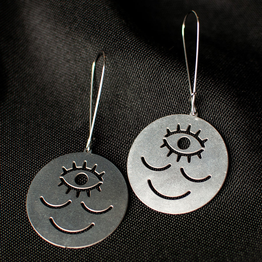 Wokeface Earrings - Silver