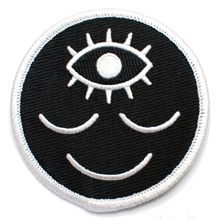 Wokeface Black & White Patch
