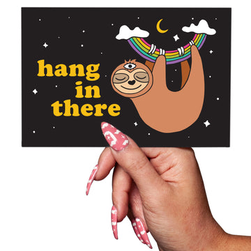 Sloth Hang in There Postcard