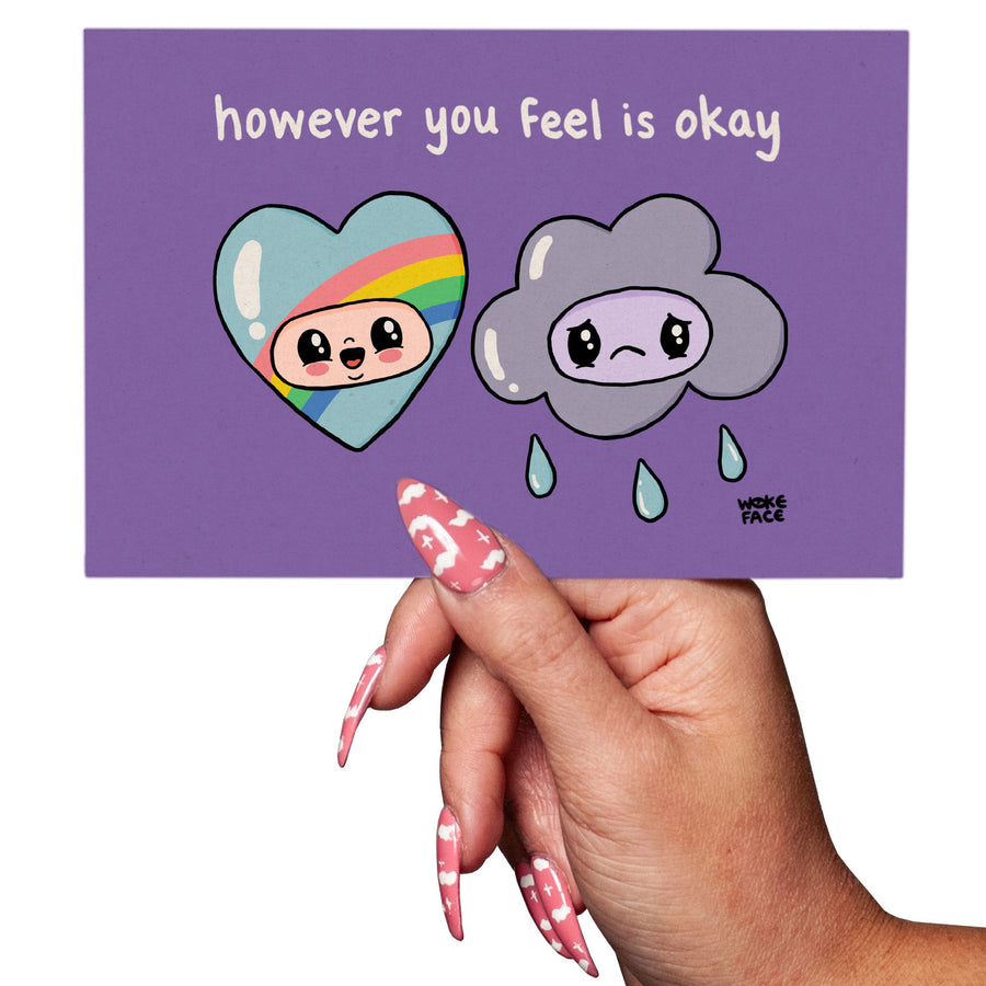 However You Feel is Okay Postcard