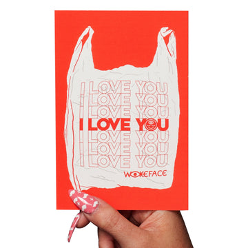I Love You Bag Postcard Print