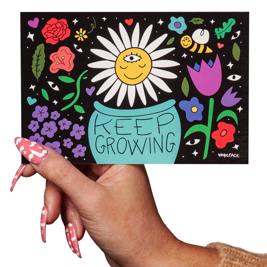 Keep Growing Postcard Print