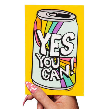 Yes You Can Postcard Print