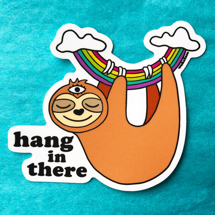 Hang in There Sloth Sticker