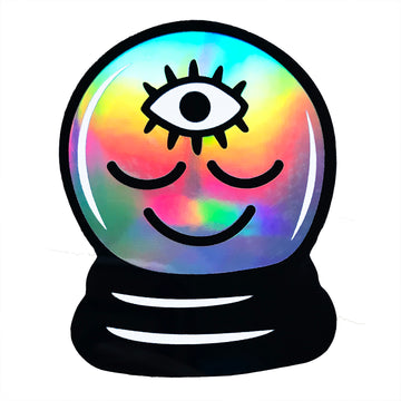 Crystal Ball Holographic Sticker