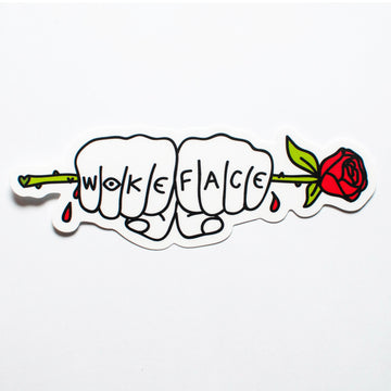 Wokeface Knuckles Sticker