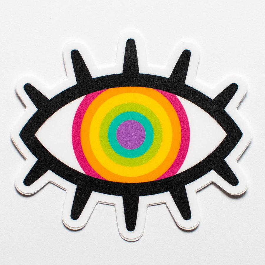 Rainbow Eye Sticker