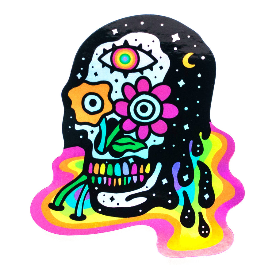 RxSkulls Collab Holographic Sticker