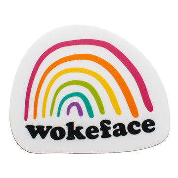 Wokeface Rainbow Brand Sticker