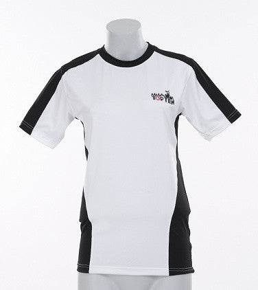 Rash Guard TOP TEN MMA short sleeve white/black