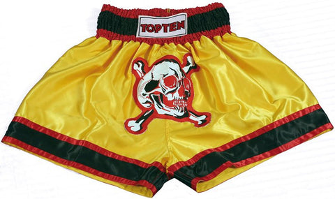 "TOP TEN Thai Shorts ""SKULL"" Yellow"