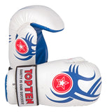 TOP TEN PointFighter Blue Tribal Gloves