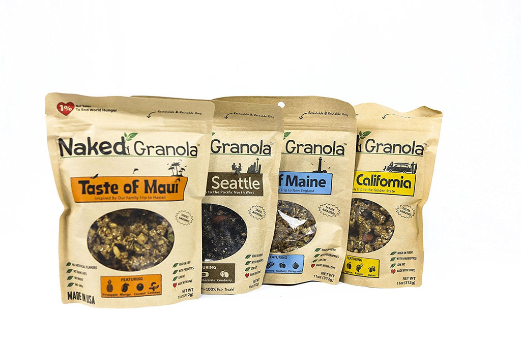 Loose Granola: One Bag of Each Flavor (4 Bags)