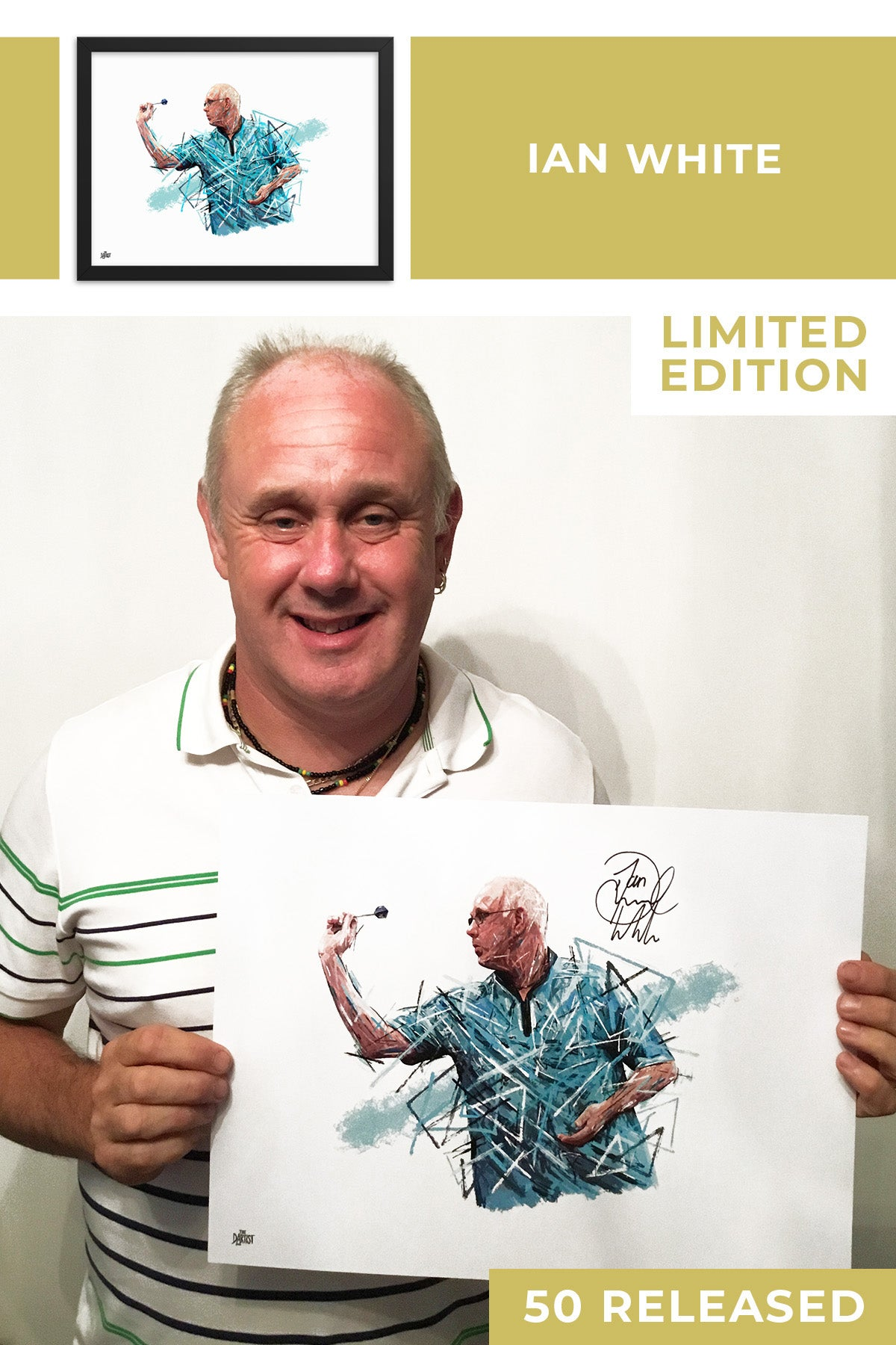 Ian White Limited Edition Signed Art Print - The Dartist
