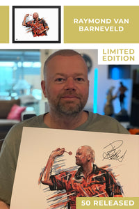 Raymond van Barneveld Limited Edition Signed Art Print - The Dartist