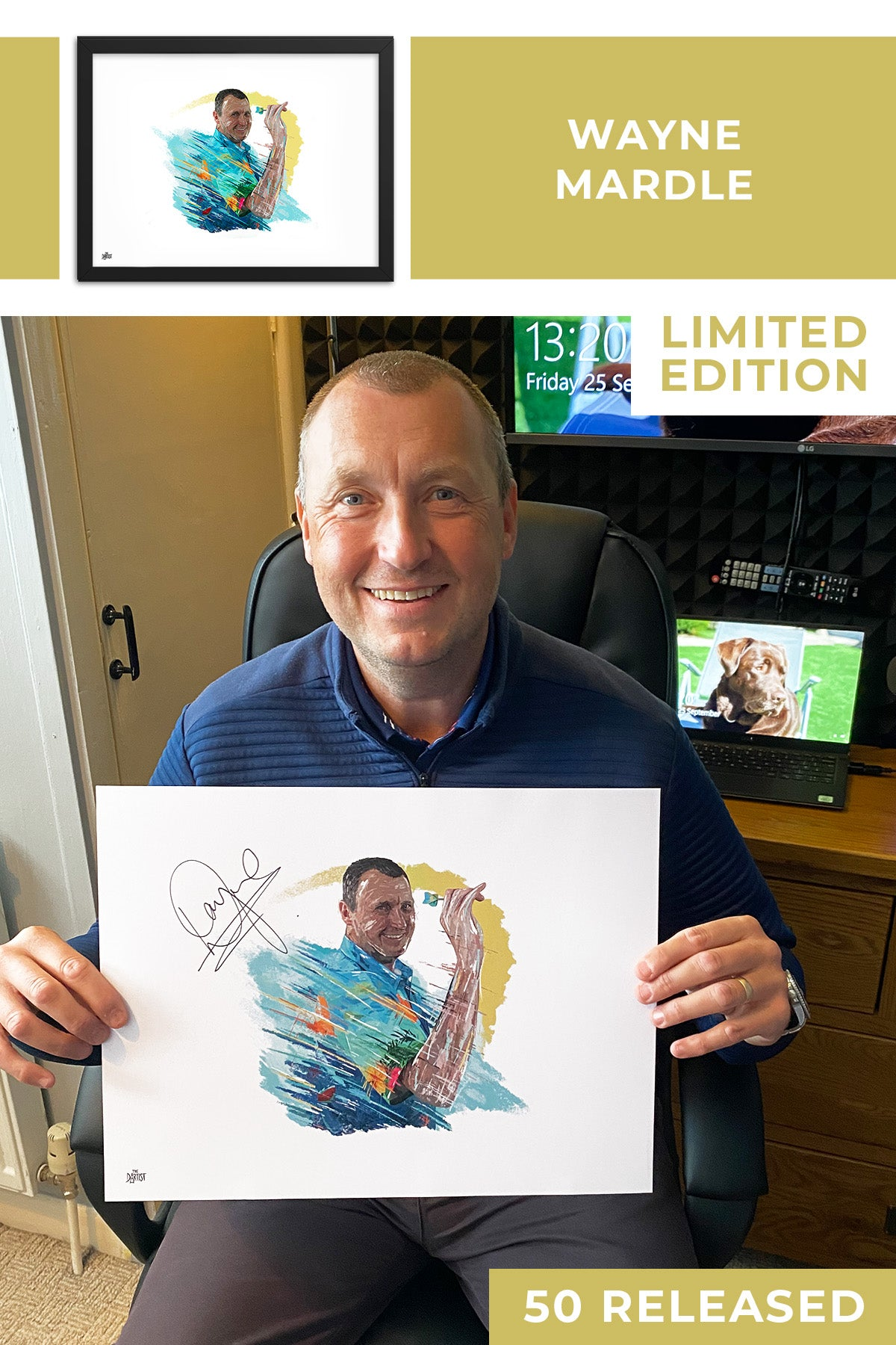 Wayne Mardle Limited Edition Signed Art Print - The Dartist