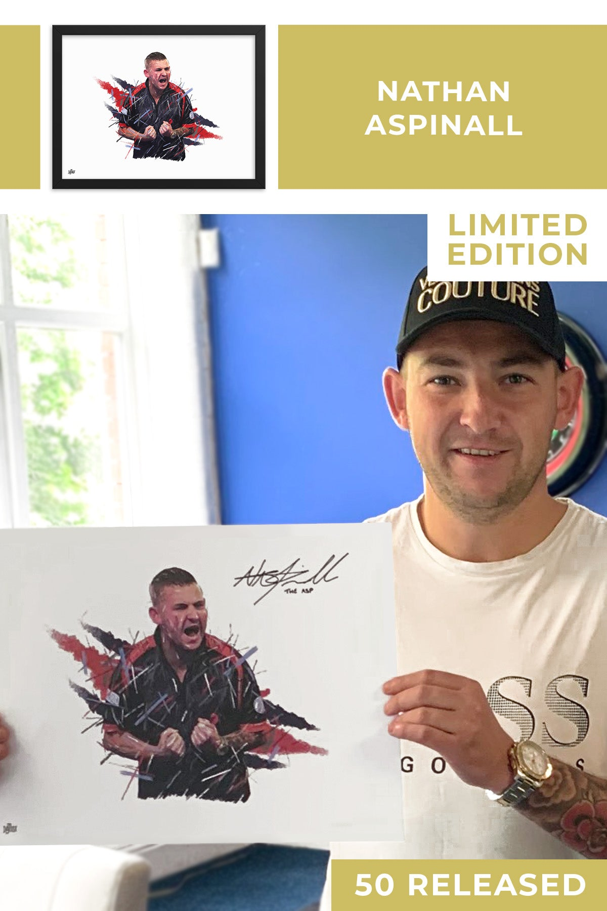 Nathan Aspinall Limited Edition Signed Art Print - The Dartist
