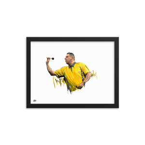 Dave Chisnall Print - The Dartist