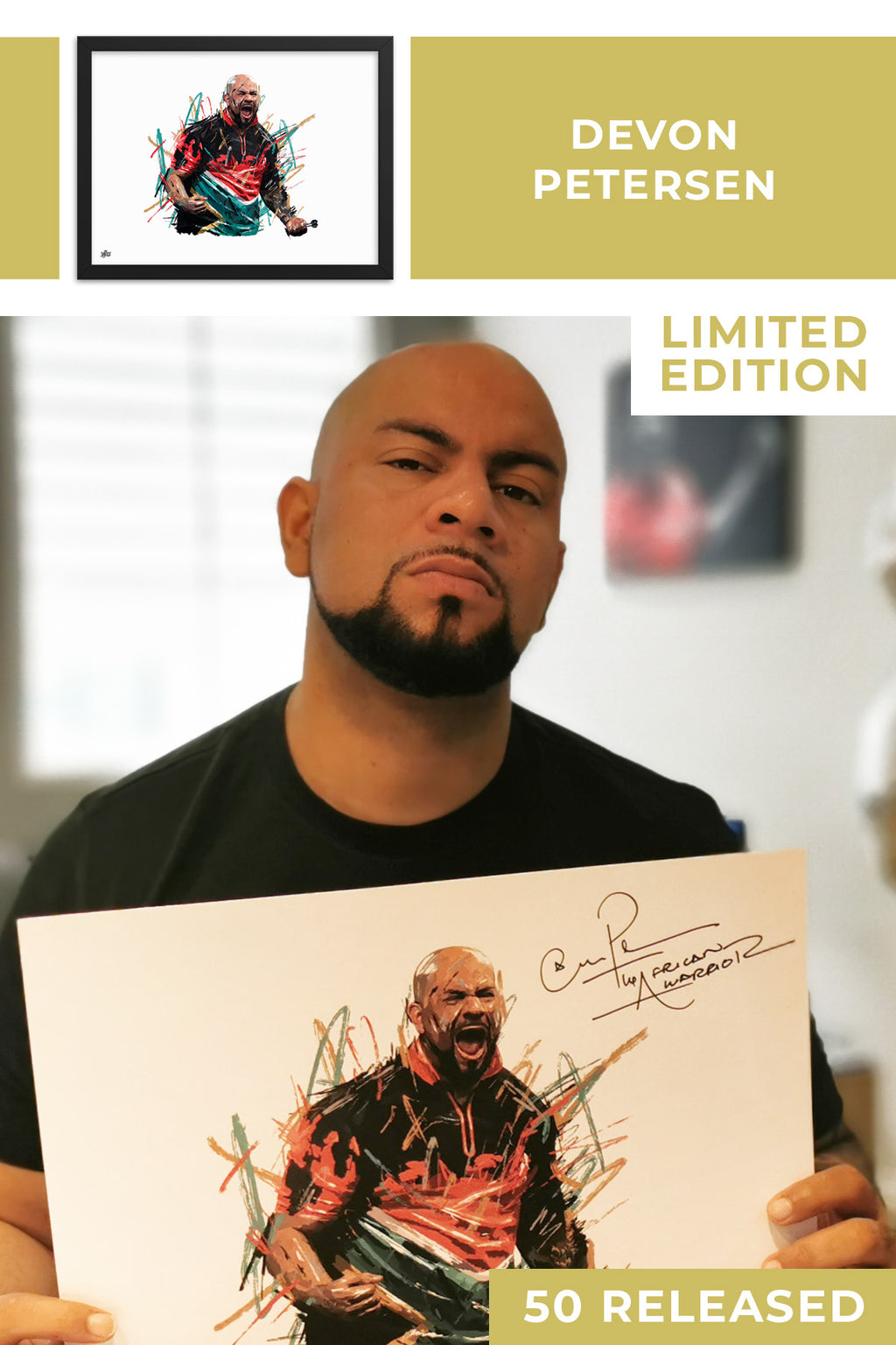 Devon Petersen Limited Edition Signed Art Print - The Dartist