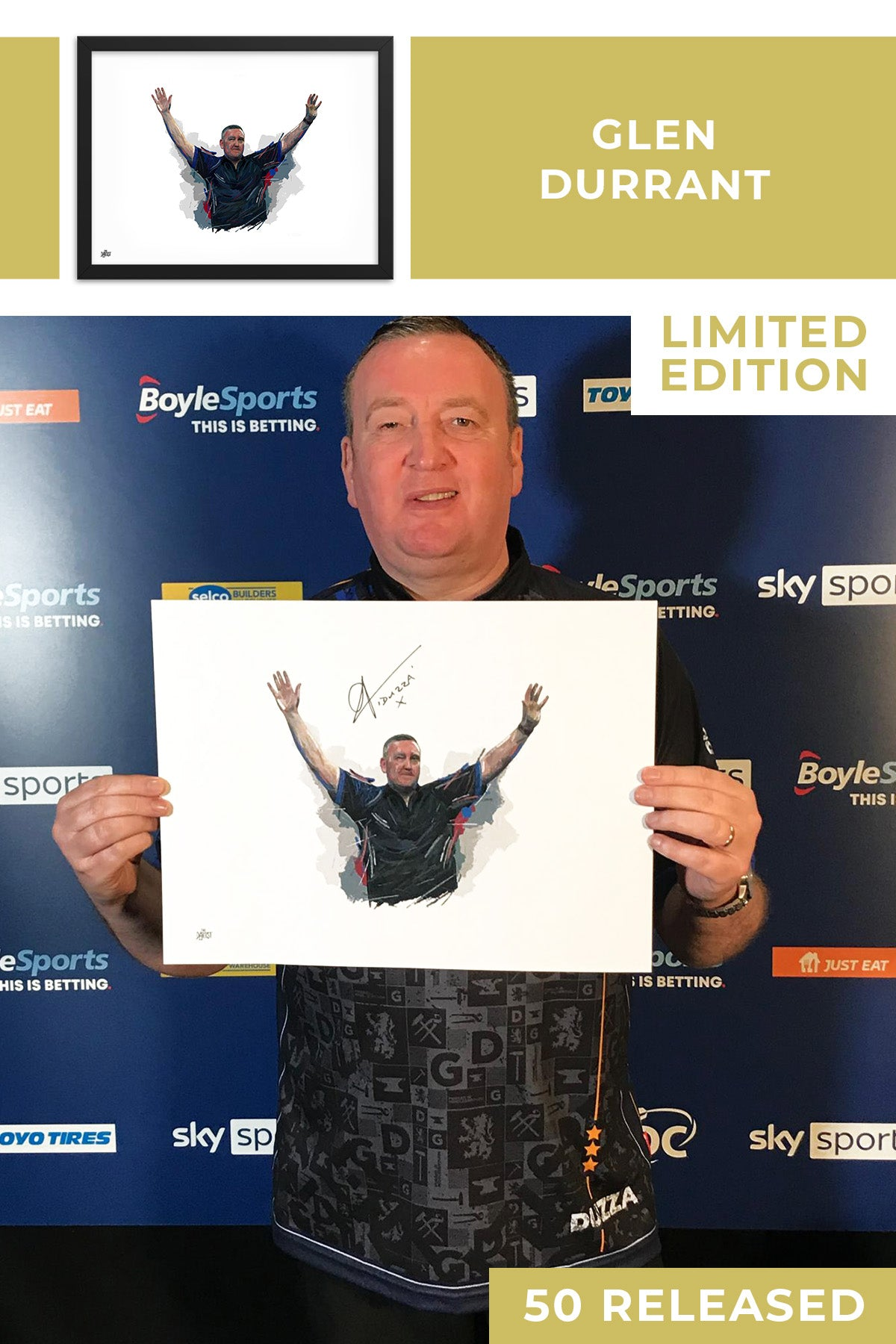 Glen Durrant Limited Edition Signed Art Print - The Dartist