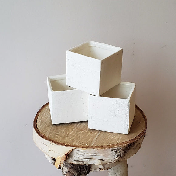 Raw Finish Ivory Cube