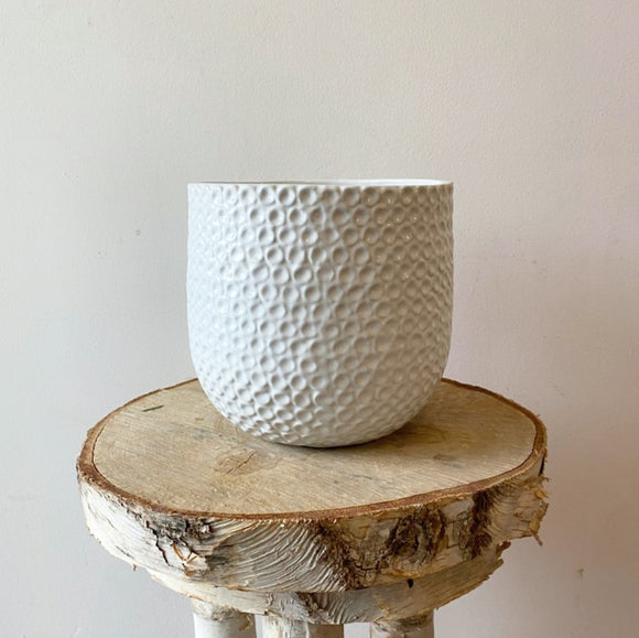 White Deco Pot