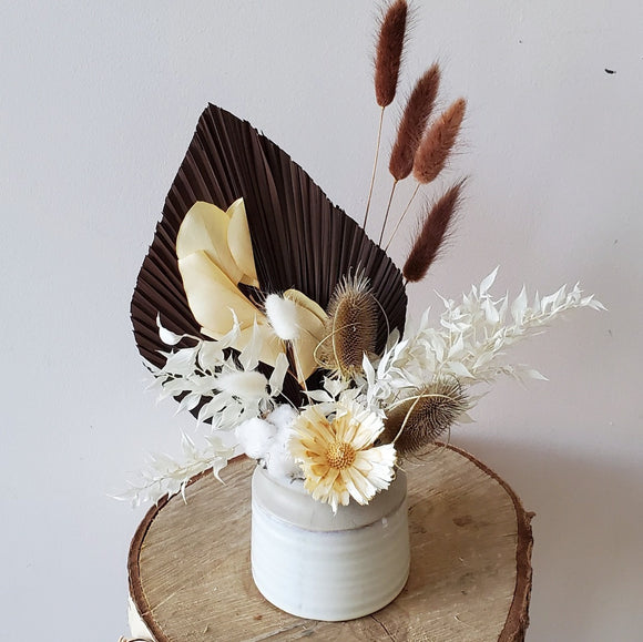 Natural/White Dried Vase Arrangement